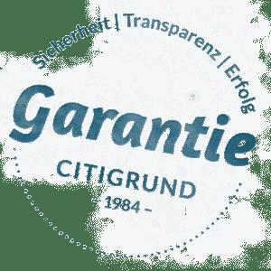 Garantiestempel Citigrund Leistungsgarantie