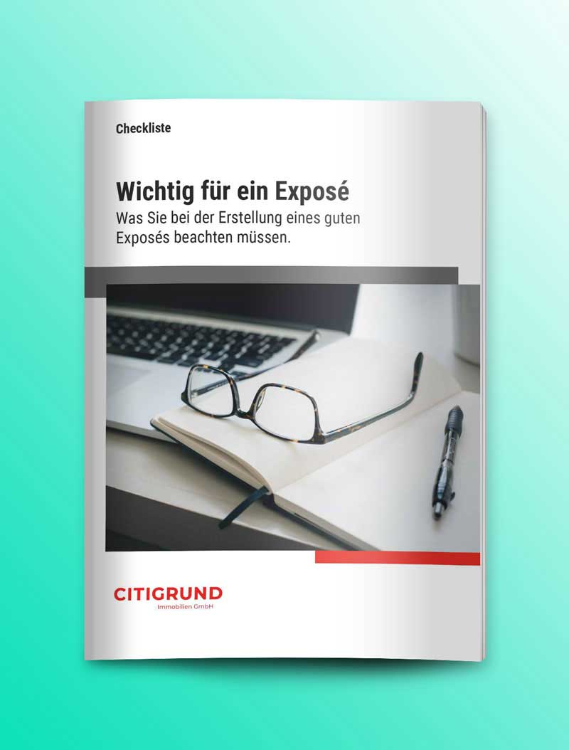 Checkliste und Downloads für ein wichtige Unterlagen für ein Exposé