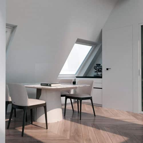 Home Staging digital mit Dachschräge