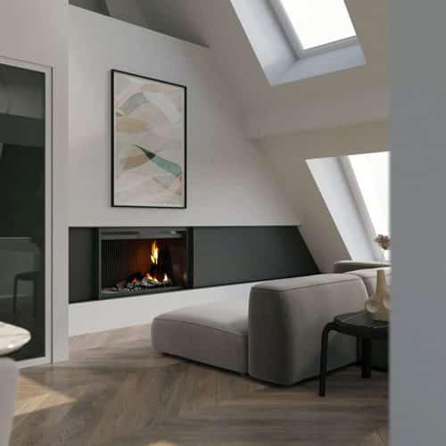 Kaminzimmer digitales Home Staging