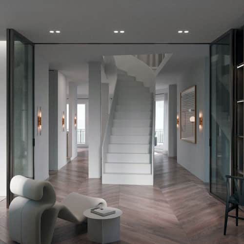 Digitales Home Staging mit Treppe