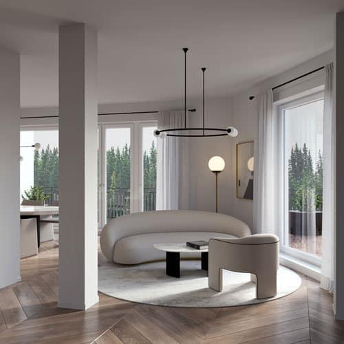 Digitales Home Staging mit im Wohnzimmer